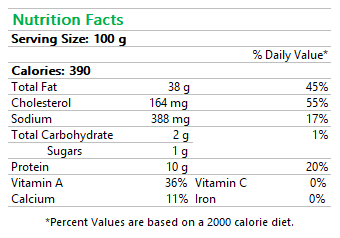 Brillat-Savarin Nutrition Facts