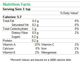 Cayenne Pepper Nutrition Facts