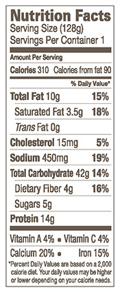 Amy's Cheese Pizza in a Pocket Sandwich Nutrition Facts