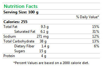 Cinnamon Swirl Nutrition Facts