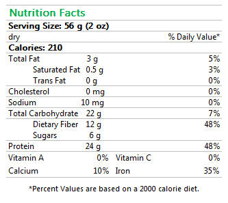 Organic Edamame Beans Protein Pasta Nutrition Facts