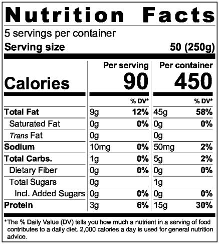 Vegan Feta Cheese Nutrition Facts