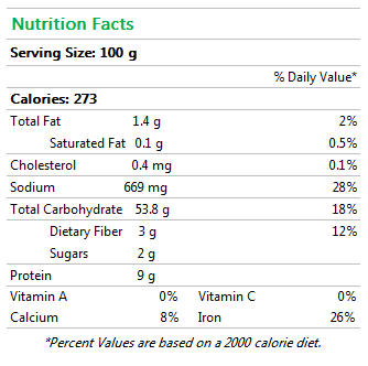 french sourdough baguette nutrition facts