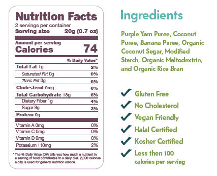 Fruit Crisps Ube Banana Coconut Nutrition Facts