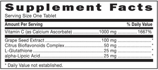 GNC Triple C 1000 Nutrition Facts