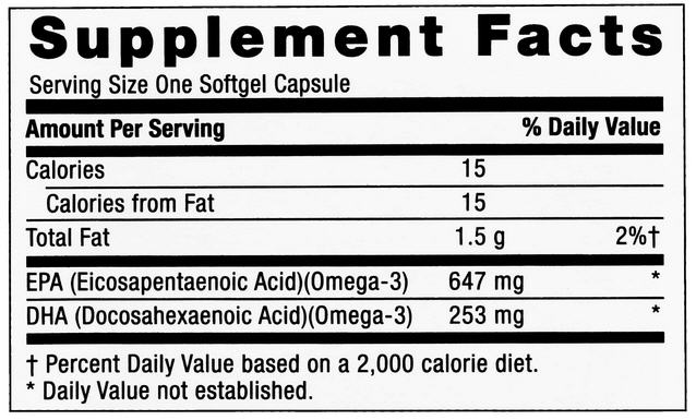 GNC Triple Strength Fish Oil Nutrition Facts
