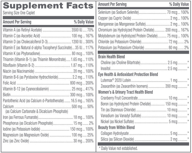 GNC Women's Ultra Mega One Daily Supplement Facts