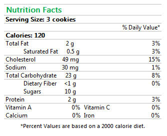 Gluten-Free Broas Cookies Nutrition Facts