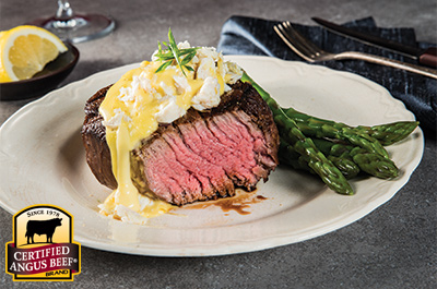 Grilled Filet Mignon with Crab Hollandaise Recipe