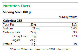 Lemon Dream Vegan Ice Cream Nutrition Facts