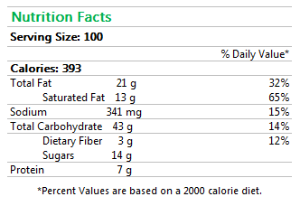 Mini Chocolate Croissant Nutrition Facts