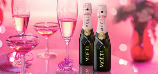 33% OFF Moet  Rosé Champagne Valentine's Day Twin Bottles