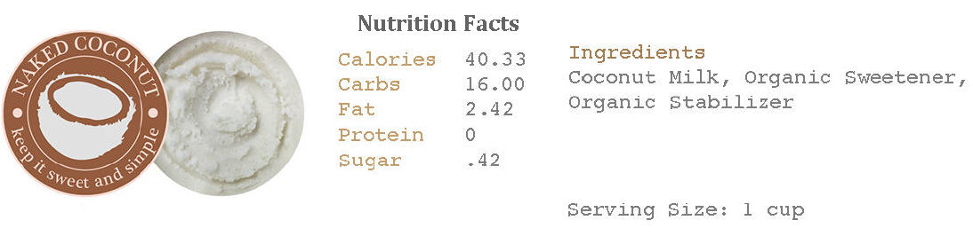 Naked Coconut Ice Cream Nutrition Facts