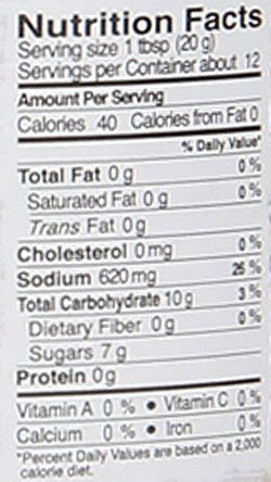 Pad Thai Sauce Nutrition Facts