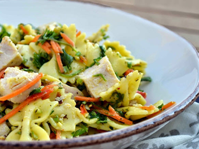 Pasta Salad with Chicken Breast Fillet in Curry Recipe