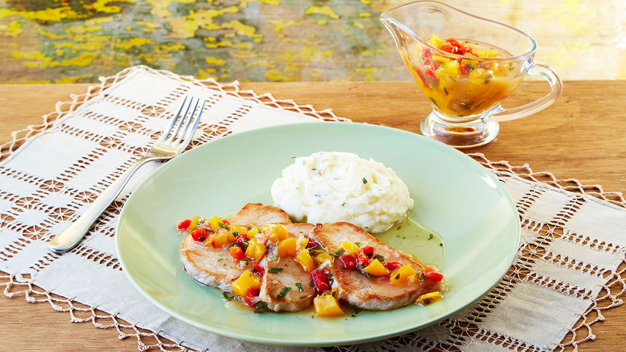Recipe - Pork Loin in PeachSauce
