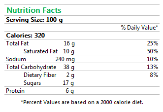 Raisin Swirl Nutrition Facts