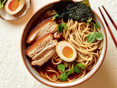 Shoyu Ramen Egg Soup Recipe