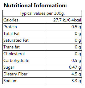 shirataki noodles nutrition facts