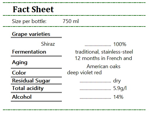 Taltarni T-Series Shiraz Fact Sheet