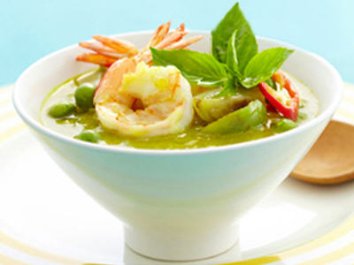 Thai Green Curried Shrimps Recipe