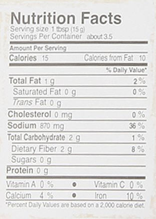 Real Thai Green Curry Paste Nutrition Facts