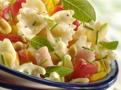 Yellow Pepper Drops Pasta Salad Recipe