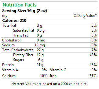 Yellow Soybean Protein Pasta Nutrition Facts