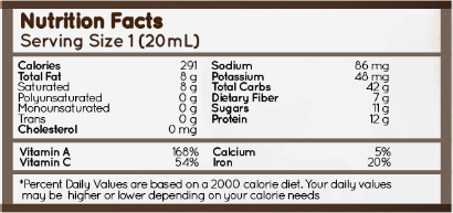 organic patis fish sauce nutrition facts