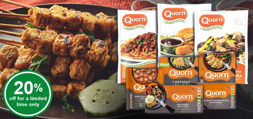 Get 20% OFF New QuornTM - Cholesterol Free Meat Alternative! Nuggets, Meatballs, Burgers & More