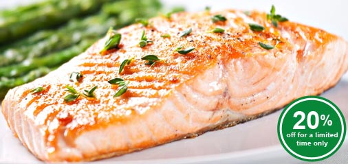 Best Selling Salmon Fillet Portions at 20% OFF for this week only!