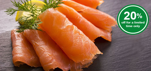 20% OFF Best-Selling Smoked Salmon