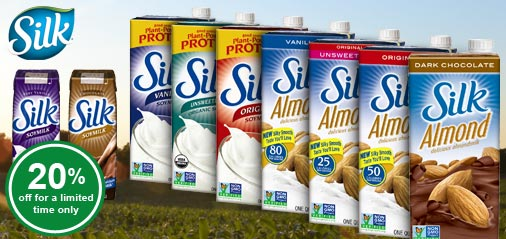 Plant-based Silk Almond Milk, Soy Milk - Get 20% OFF for a limited time!