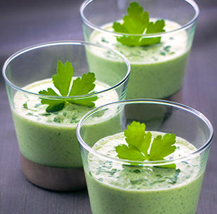 Smoothie with Parsley Herbs