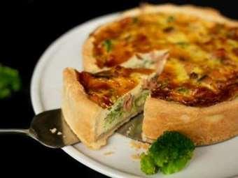 Picture of Salmon & Broccoli Quiche