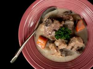 "Picture of French Veal Stew ""Blanquette de veau"""