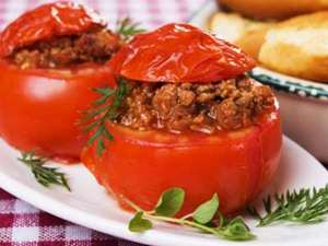 Picture of Stuffed Tomatoes with Sausage